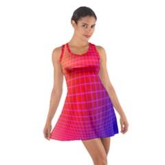 Grid Diamonds Figure Abstract Cotton Racerback Dress