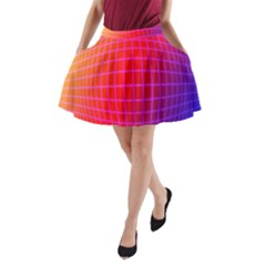 Grid Diamonds Figure Abstract A-Line Pocket Skirt