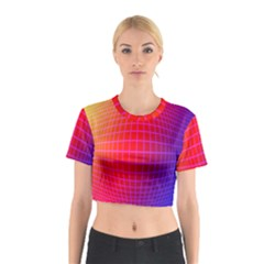 Grid Diamonds Figure Abstract Cotton Crop Top