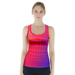 Grid Diamonds Figure Abstract Racer Back Sports Top