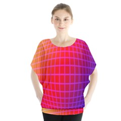 Grid Diamonds Figure Abstract Blouse