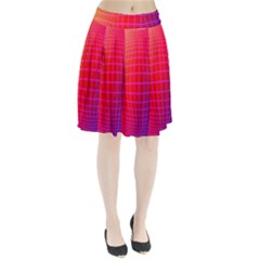 Grid Diamonds Figure Abstract Pleated Skirt