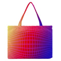 Grid Diamonds Figure Abstract Medium Zipper Tote Bag