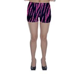 SKN3 BK-PK MARBLE Skinny Shorts