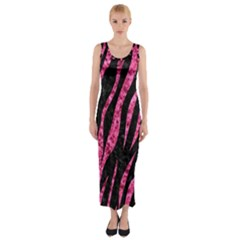 SKN3 BK-PK MARBLE Fitted Maxi Dress