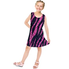 SKN3 BK-PK MARBLE Kids  Tunic Dress