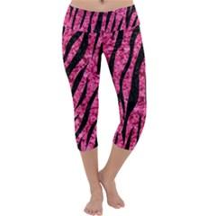 SKN3 BK-PK MARBLE (R) Capri Yoga Leggings