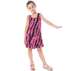 SKN3 BK-PK MARBLE (R) Kids  Sleeveless Dress