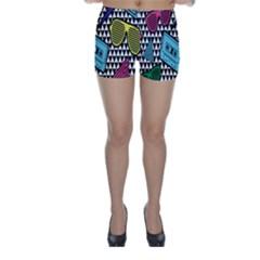 Glasses Cassette Skinny Shorts