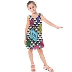 Glasses Cassette Kids  Sleeveless Dress