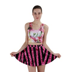 SKN4 BK-PK MARBLE Mini Skirt