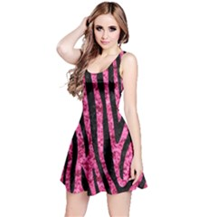 SKN4 BK-PK MARBLE Reversible Sleeveless Dress