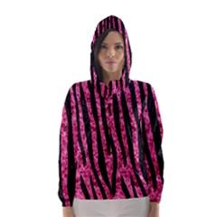 SKN4 BK-PK MARBLE Hooded Wind Breaker (Women)