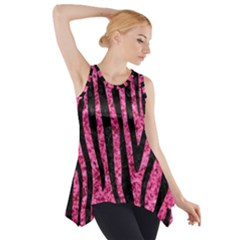 SKN4 BK-PK MARBLE Side Drop Tank Tunic