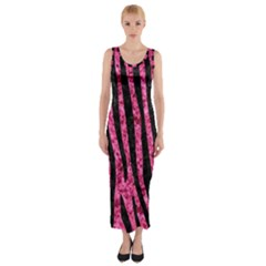 SKN4 BK-PK MARBLE Fitted Maxi Dress