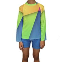 Lock Screen Kids  Long Sleeve Swimwear