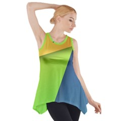 Lock Screen Side Drop Tank Tunic