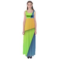 Lock Screen Empire Waist Maxi Dress