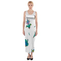 Leaf Fitted Maxi Dress