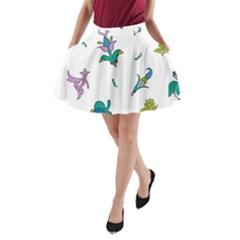 Leaf A-Line Pocket Skirt