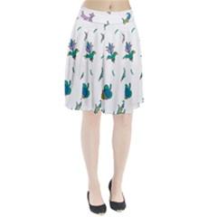 Leaf Pleated Skirt