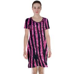 SKN4 BK-PK MARBLE (R) Short Sleeve Nightdress