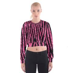 SKN4 BK-PK MARBLE (R) Women s Cropped Sweatshirt