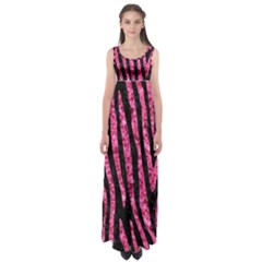 SKN4 BK-PK MARBLE (R) Empire Waist Maxi Dress
