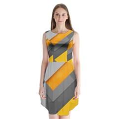 Marshmallow Yellow Sleeveless Chiffon Dress