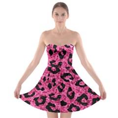 SKN5 BK-PK MARBLE Strapless Bra Top Dress