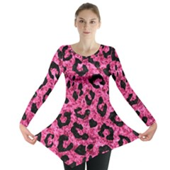 SKN5 BK-PK MARBLE Long Sleeve Tunic