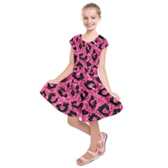 SKN5 BK-PK MARBLE Kids  Short Sleeve Dress