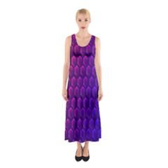 Outstanding Hexagon Blue Purple Sleeveless Maxi Dress