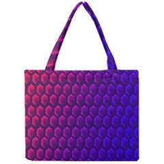 Outstanding Hexagon Blue Purple Mini Tote Bag