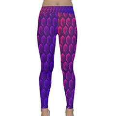 Outstanding Hexagon Blue Purple Classic Yoga Leggings