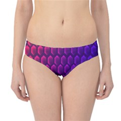 Outstanding Hexagon Blue Purple Hipster Bikini Bottoms
