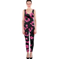 SKN5 BK-PK MARBLE (R) OnePiece Catsuit