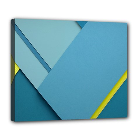 New Bok Blue Deluxe Canvas 24  x 20