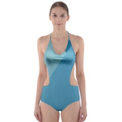 New Bok Blue Cut-Out One Piece Swimsuit