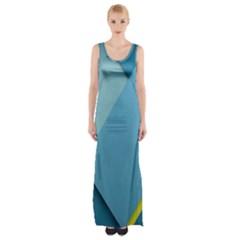 New Bok Blue Maxi Thigh Split Dress