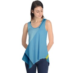 New Bok Blue Sleeveless Tunic