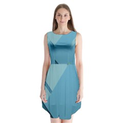 New Bok Blue Sleeveless Chiffon Dress