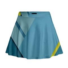 New Bok Blue Mini Flare Skirt