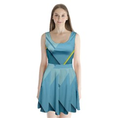 New Bok Blue Split Back Mini Dress