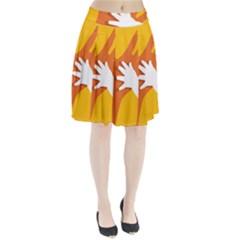 Hand Mom Soon Cute Mains Copy Pleated Skirt
