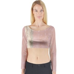 Guestbook Background Victorian Long Sleeve Crop Top