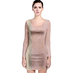 Guestbook Background Victorian Long Sleeve Bodycon Dress
