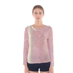 Guestbook Background Victorian Women s Long Sleeve Tee