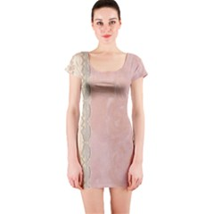 Guestbook Background Victorian Short Sleeve Bodycon Dress