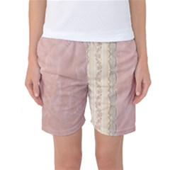 Guestbook Background Victorian Women s Basketball Shorts
